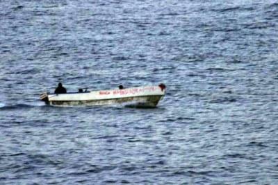 Pirates armés dans l'océan Indien près de la Somalie.
