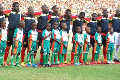 Uganda's 2017 Afcon squad.