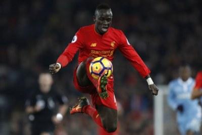 Sadio Mane de Liverpool en action.