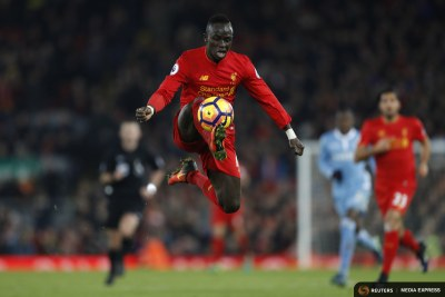 Liverpool's Sadio Mane in action.