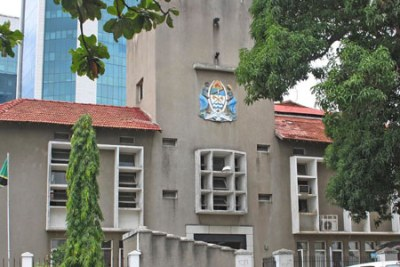 High Court of Tanzania building in downtown Dar es Salaam (file photo).