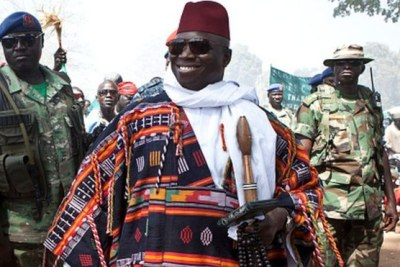 Former Gambian president Yahya Jammeh.