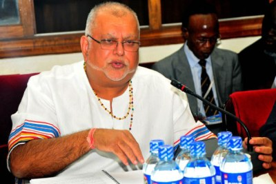 Kampala businessman Sudhir Ruparelia (file photo).