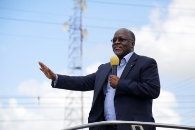 President John Magufuli (file photo).
