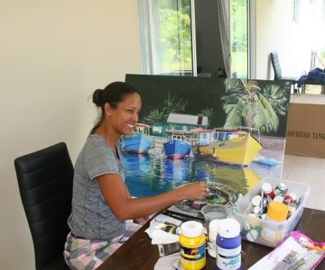 A Seychelles Painter Finds Inspiration in the Islands