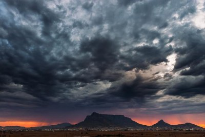 Storm approaches Cape Town (file photo).