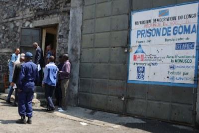 Entrée principale de la prison de Goma au Nord-Kivu