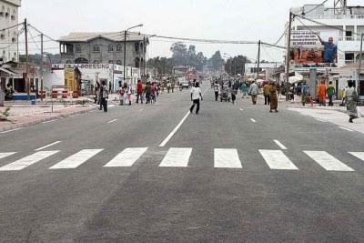 Une rue du centre ville de Brazzaville