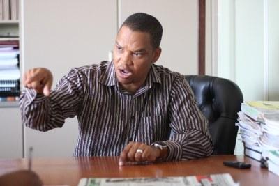 Landless People's Movement leader Bernadus Swartbooi (file photo).