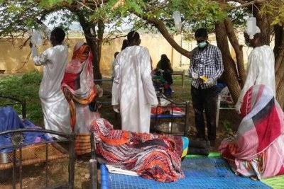 Cholera patients in Salemeen village in El Gedaref in July.