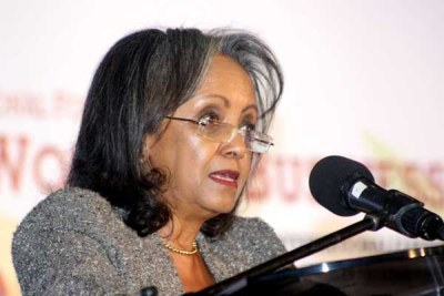 United Nations Office at Nairobi Director General Sahle-Work Zewde.