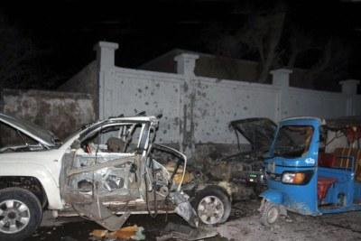 La scène d'un attentat à la bombe à Mogadiscio, en Somalie. (archives)