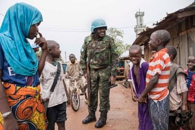 UN forces in Bangui (file photo).