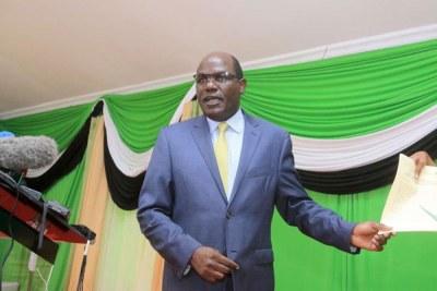 IEBC chairman Wafula Chebukati during a past event.