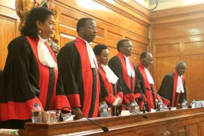Supreme Court judges (file photo).
