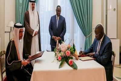 En visite au Sénégal, l'Emir Cheikh Tamim Ibn Hamad Al-Thani a été accueilli, hier, par le président de la République, Macky Sall