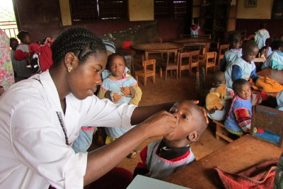 Polio vaccination (file photo).