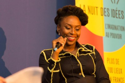 Chimamanda Ngozi Adichie at the La Nuit Des Idees (A Night of Ideas) event.