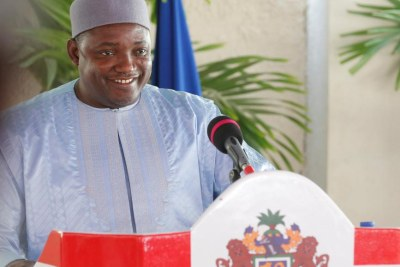 Le président gambien Adama Barrow