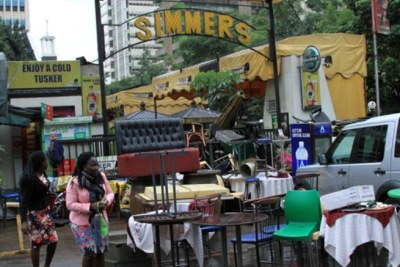 Popular Simmers Bar and Restaurant, Nairobi, after it was closed on March 2, 2018.