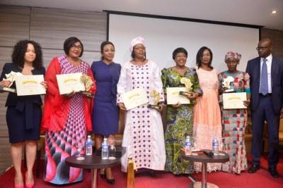 Célébration de la journée de la femme d'AllAfrica à Abidjan le 5 mars  2018 - Lauréates du prix AllAfrica Leadership Féminin 2018