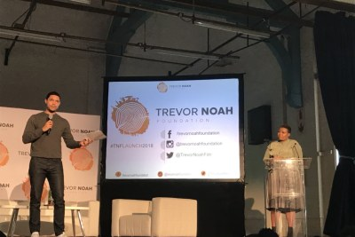 Trevor Noah launches foundation in Johannesburg.
