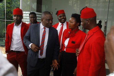 The five justices of the court will commence with submissions of the petitioners including Uganda Law Society and Kampala Lord Mayor Elias Lukwago, who represents Members of Parliament challenging the amendment (file photo).