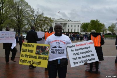Protesting in Washington against the ongoing war in South Sudan (file photo).