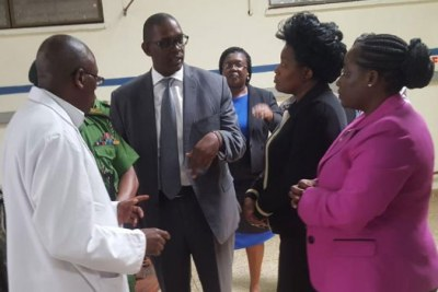 Chief of Staff Nzioka Waita (in suit) says the move is in good faith since the doctor.