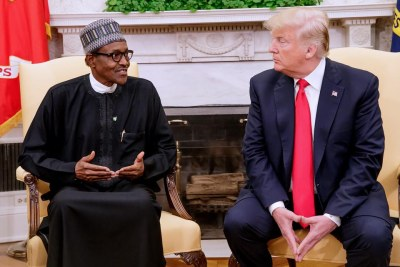 President Donald Trump hosts Nigerian President Muhammadu Buhari at the White House Monday, April 30th 2018. The event marks Trump's first official visit from an African head of state.