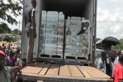 Illegal ammunition transported by military truck out of Awae, April 4, 2018.