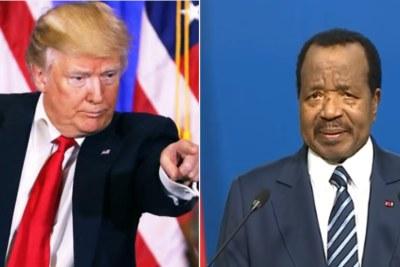 Le Président américain, Donald Trump face à son homologue camerounais, Paul Biya
