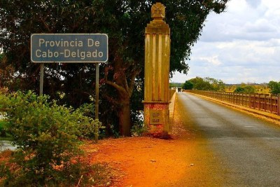 Mozambique showing Cabo Delgado province.
