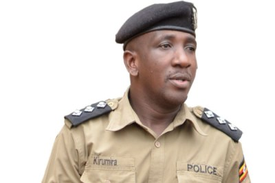 Former Buyende District police commander Muhammad Kirumira.