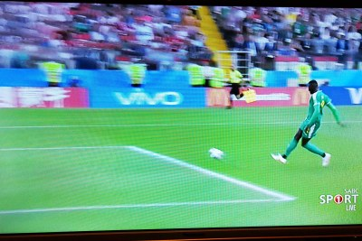 Senegal's Niang scores an easy goal after a critical mistake by Polish goalkeeper Szczesny.