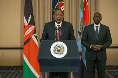 President Uhuru Kenyatta and his Deputy William Ruto.
