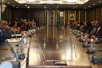 The cabinet is expected to review and make a decision on the Africa free trade agreement, signed on Sunday by President Hage Geingob.