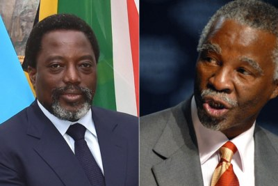 Left: DRC President Joseph Kabila. Right: Former South African president Thabo Mbeki.
