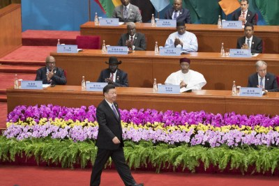 The FOCAC summit in Bejing, China.