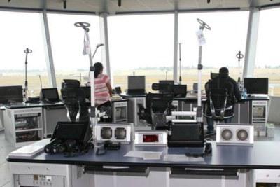Ethiopian air traffic controllers at the Bole International Airport