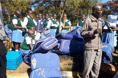Students of Nasokol Secondary School in West Pokot county camp at Kitale Showground after they were sent away for poor performance on September 4, 2018.