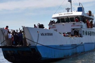 The passenger ferry, MV Nyerere, which capsized.