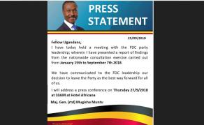 Uganda's Mugisha Muntu, Bobi Wine Alliance Plan In The Pipeline?