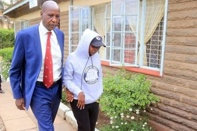 Journalist Jacqui Maribe leaves Kilimani Police Station on September 27, 2018 after being questioned over the murder of Monica Kimani.