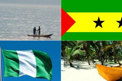 Top, São Tomé and Principé, bottom, Nigeria