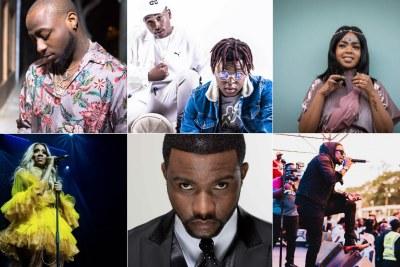 Best African Act nominees - Davido,  Distruction Boyz and Shekhinah. Tiwa Savage, Fally Ipupa; and Kenya's Nyashinski.