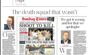 'We Got It Wrong' - Sunday Times Apologises for False Reports