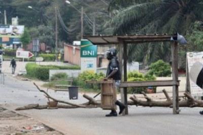 Forces de lordre ivoiriennes lors devenement a Abidjan