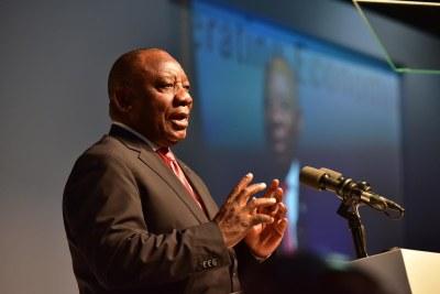 Le président sud-africain, Cyril Ramaphosa