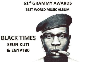 Seun Kuti's Black Times album gets nominated for Grammy Awards 2019.